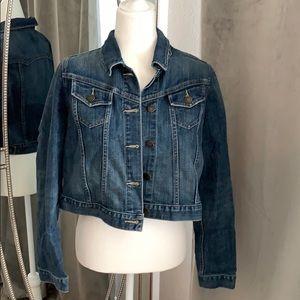 Jackets & Blazers - Maternity jean jacket new size medium